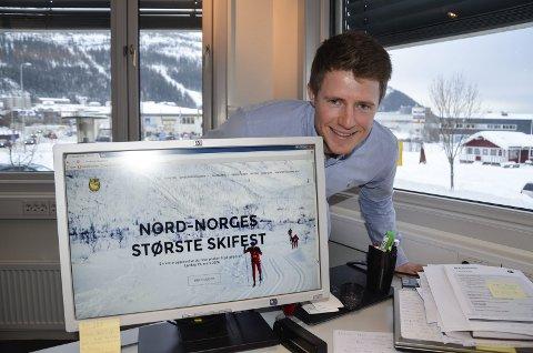 Jubilerer: Blåvegenløpet fyller 40 år vinter. Stålkams Vegard Nerdal vil ha minst 1.500 løpere ut i løypene. Foto: Trond Isaksen