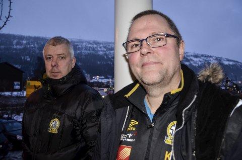 KLAR: Trener Per Gunnar Tysnes og fotballeder i Stålkam, Kenneth Eliassen, ser at 2018-sesongen blir tøff på alle måter.
