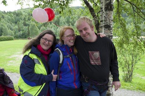 Gjensyn: Liv Karin Rørvik, Marte Fjeldstad og Joakim Rasmussen strålte på første festivaldag.