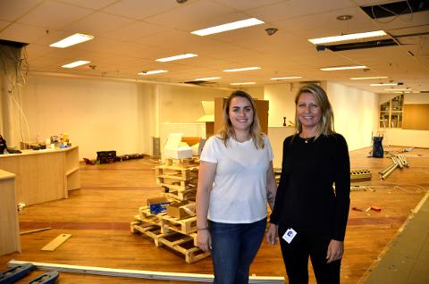 UTVIDER: IHUS Studio utvider sine lokaler. Bedriften har hatt stor økning i omsetningen på kort tid. Karoline Solvang Wabnig (t.v.) og daglig leder Kristin Haaland ser fram til å være på plass i slutten av neste måned. Foto: Gøran O. Pedersen