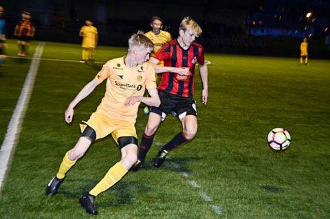 SCORET: Kneskadde Henning Vassdal laget 1-0 til Åga IL allerede etter seks minutter i KM-finalen.