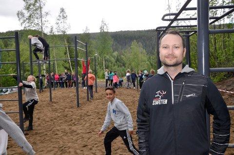 STARTET BALLET: Celsas Bedriftsidrettslags tilskudd til Klokkerhagen, ble starten på Tufteparken. Rolf-Arne Hanssen var med åpningen i 2016.