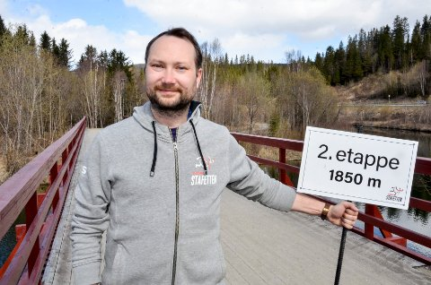FULL FART: Celstastafettens Rolf-Arne Hanssen er storfornøyd med påmeldingen til årets stafett. Nå starter merkingen av løypa i Klokkerhagen. Foto: Trond Isaksen