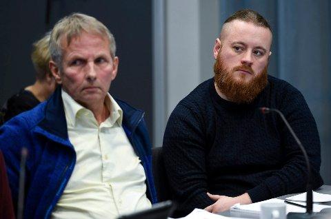 """- Jeg er ikke bekvem med begrepet """"omegn"""", sa styrerepresentant Jann-Georg Falch. Til høyre styremedlem Anders Stokka Ringkjøb."""