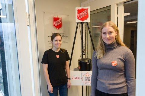 Hanne Kristin Skog (t.v.) og Viktoria Sørmo Nilsen i Frelsesarmeen i Mo i Rana kan sammen med sine kolleger i Narvik og Bodø se fram til et fint tilskudd fra Nordland fylkeskommune.