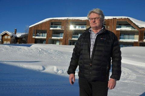 Uglesett: – Noen mente blant annet at vi skviste ut hotellene ved å bygge leiligheter. Vi ble uglesett i begynnelsen. Mange var kritiske til denne typen utbygging på Sjusjøen, sier Anders Elje. Foto: Jeanette Sandbæk Håland