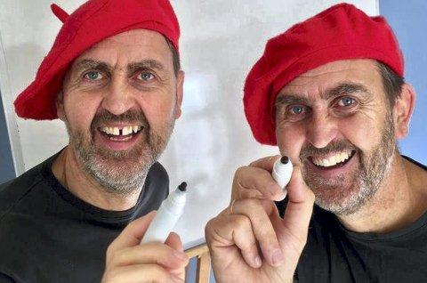 Bokdag: og tegneforestilling med brødrene Nyhus arrangeres i Moelv og Brumunddal lørdag.