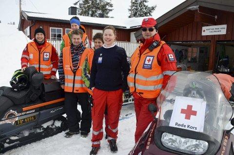 En av tre: Røde Kors hytta på Sjusjøen som bemannes av Brøttum Røde Kors hjelpekorps, vil ha vakt i påska. Dette bildet ble tatt for et par år siden.