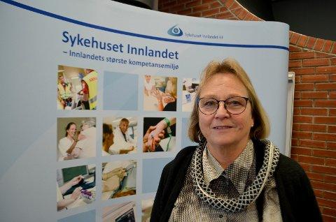 KRITISK: Gunn Rauken, leder av brukerutvalget i Sykehuset Innlandet, er kritisk til sammensetningen av styringsgruppa for konseptfaseutredningen.