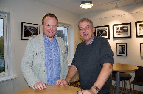 Hans-Petter Aasen (Sp) og Runar Johansen (H) var skjønt enige om behovet for å ta vare på Riddergården og å sikre Nes skole framover.