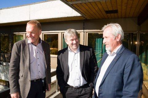 Ordførerne Lars Magnussen, Kjell B. Hansen og Per R. Berger vil gjerne samarbeide, men på ingen måte slå seg sammen.