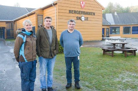 Ann Sissel Nerby, Henning Nordby og Roy Korslien mener tilbudet til elevene vil bli bedre når Bergerbakken skole bygges ut.