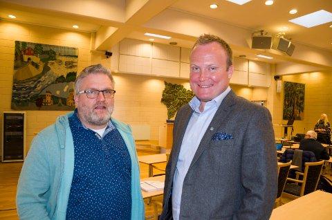 Dag Øivind Henriksen (H) og Hans-Petter Aasen (Sp) mener de skal klare å skaffe pengene som trengs for å opprettholde musikk- og idrettslinja ved Ringerike videregående skole.
