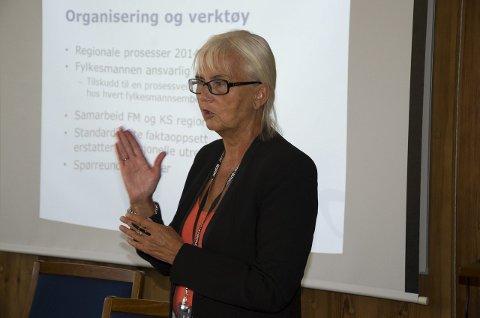 Fylkesmann Helen Bjørnøy er sykmeldt.