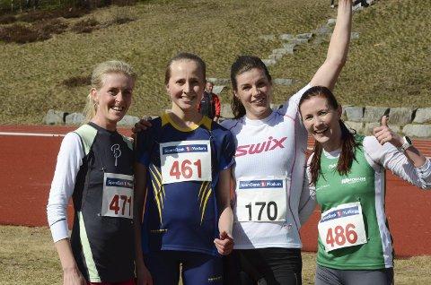 Firedobbelt Ringerike, Karianne Dalen (4), Liv Nordengen (3), Ingeborg Dahl (1) og Maria Aure (2)