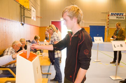 Kristoffer Jacobsen fra Jevnaker stemte nei til kommunesammenslåing.