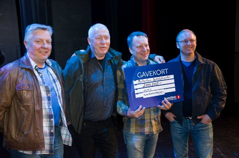 Arne Andersen, Kristian Thoresen, Hans Kristian Berg og Ola Langslet kunne fornøyd innkassere to millioner kroner til en storstue for skytterne.