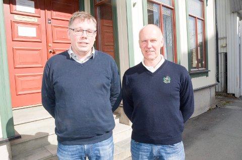 Terje Berghagen og Lars Moholdt i LO Hallingdal og Ringerike håper regjeringen får Ringeriksbanen på skinner allerede i 2019.
