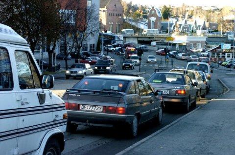Trafikken gjennom Hønefoss er et hett diskusjonstema.