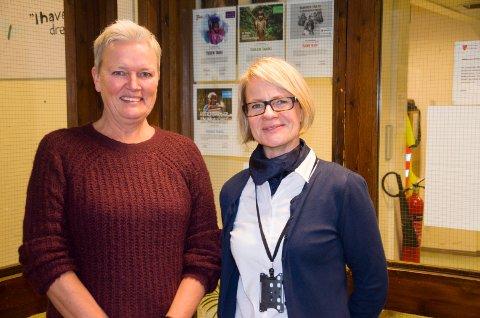 FOREBYGGING: Kontaktlærer Tine Bråten og rektor Tone Sandvik jobber mye med at ingen elever skal falle utenfor skolen, men føle seg sett og verdsatt.