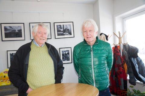 FORNØYDE: Andreas og Arnfinn Bakke er fornøyde med at formannskapet er positive til planene om en Coop-butikk på Hvervenkastet.
