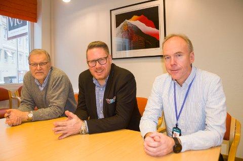 STORE MÅL: Jan Erik Gjerdbakken, (RNF), Jørgen Moen (RU) og Steinar Aasnæss (USN) har laget et utkast til en ny strategi som viser høye ambisjoner for antall nye arbeidsplasser i regionen.