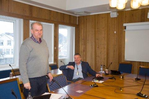 Runar Johansen (H) og varaordfører Dag E. Henaug (H) er helt enige om at byplanen må bli klar så fort som overhodet mulig.