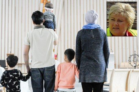 Familien vil gjerne ha statsminister Erna Solberg på besøk.