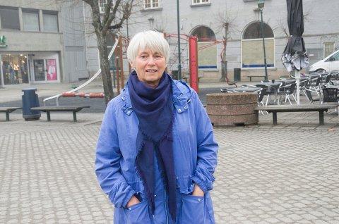 Lise Bye Jøntvedt (H) håper innbyggerne i Hønefoss sier hvordan de ønsker at byen skal utvikle seg.