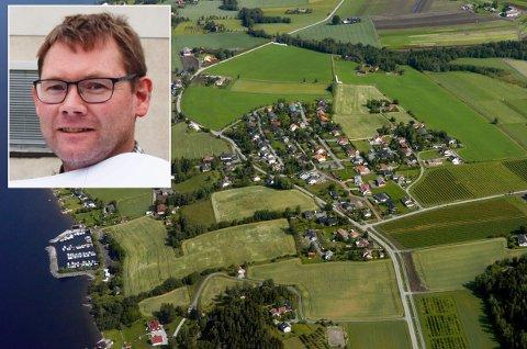BOLIGER OG JORD: Hole kommune vil tillate mer boligbygging på Røyse, men John-Morten Landrø understreker at området fortsatt skal ha et landbrukspreg.
