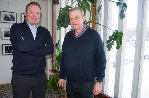 UENIGE: Hans-Petter Aasen (SP) og Runar Johansen (H) er uenige om det er greit med sportsbutikk på Hvervenmoen, men det er Johansen som fikk flertallet med seg.