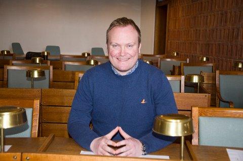 FORNØYD: Hans-Petter Aasen (Sp) har grunn til å glise bredt. Blir valgresultatet som forhåndsstemmene antyder leder han kommunens nest største parti i neste periode.