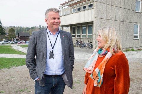 SAMSTEMTE: Ordførerkandidatene Dag E. Henaug (H) og Kirsten Orebråten (Ap) er ikke enige om alt, men begge er enige om å si nei til bompenger.