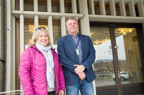 ORDFØRERVALG: Kirsten Orebråten (Ap) og Dag E. Henaug (H) må begge konstatere at forhåndsstemmene viser en tilbakegang for Ap og Høyre.