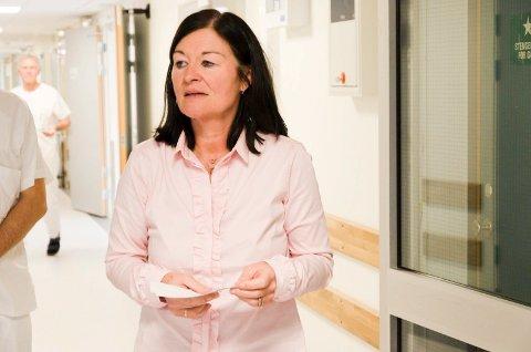 GULT NIVÅ: – Ringerike sykehus drives fortsatt på gult nivå, sier klinikkdirektør May Janne Botha Pedersen.