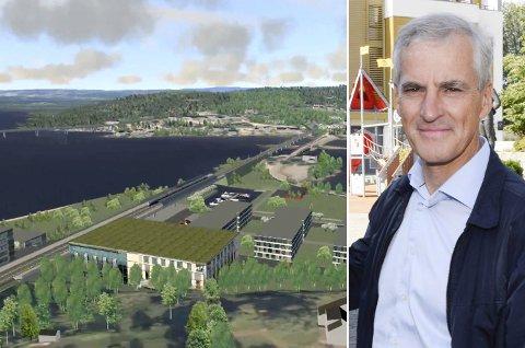 SPANDABEL: Ap-leder Jonas Gahr Støre (Ap) lover ekstra penger til Ringeriksbanen neste år, og vil kjempe for så rask byggestart som mulig.