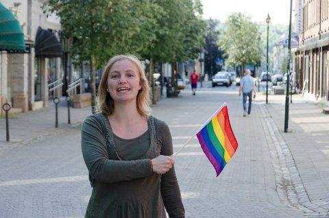 FOSSEPRIDE: Anne-Marthe Bergsland Larsen er en av initiativtakerne til FossePride.