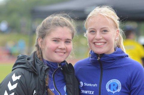 FINALE: Hedda Sofie Samuelsen og Malene Storøygard var begge i finalen i spyd på UM.