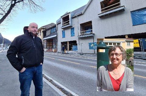 ETTERLYSER SVAR: Rjukan Vels leder Vigdis Røsshammer synes kommunen må ta grep i forhold til offentlig toalett, og hører at Roger Snersrud ikke har fått svar på sitt tilbud til kommunen i bygget bak.