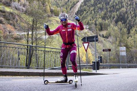 Godt humør: Maiken Caspersen Falla kommer til Pyeongchang med to titler i beltet. Foto: Terje Pedersen, NTB scanpix