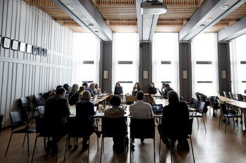 Mørkt: Det ble ingen politisk debatt om Skansen da formannskapet fikk saken på bordet.