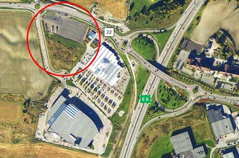 BYGGES NED: Det er det markerts området Rimfeldt Eiendom nå skal fylles med ny virksomhet. (Foto: Rimfeldt Eiendom AS)