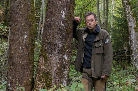 BEKYMRET: Sverre Solberg, leder i Naturvernforbundet i Lillestrøm, reagerer på en rekke ting ved planene for det nye deponiet.
