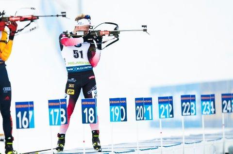 HAR IMPONERT: Dale gikk inn til femteplass under skiskyting menn 20 kilometer normaldistanse under verdenscup skiskyting i Pokljuka.