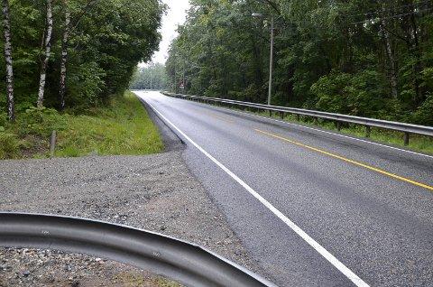 ANLEGGSVEI: Her skal det bygges en anleggsvei som skal gå 800 meter inn til Dauderdalen.