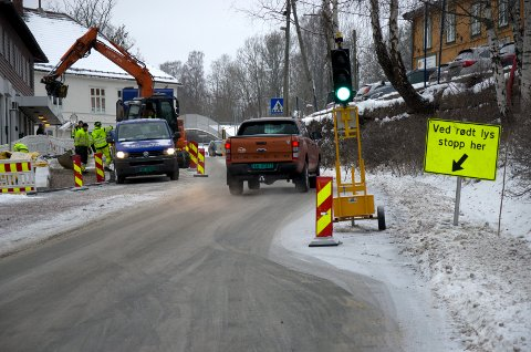 KAOS: Det har vært kaotiske tilstander ved Røyken stasjon de siste ukene.