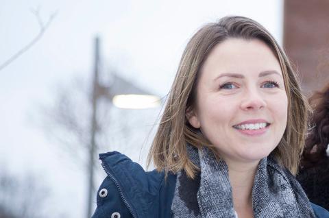 PÅ TV: Christine Ekeberg fra Tofte skal delta i The Voice.