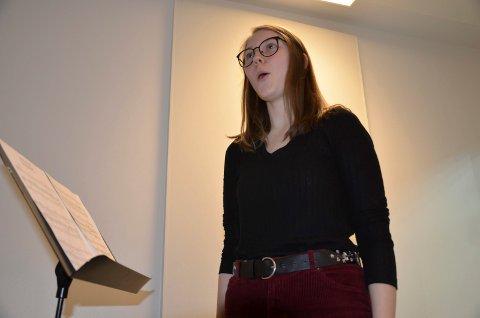 SANGGLAD: Signe Margrethe Eriksen(18) har en drøm som kan gå i oppfyllelse.