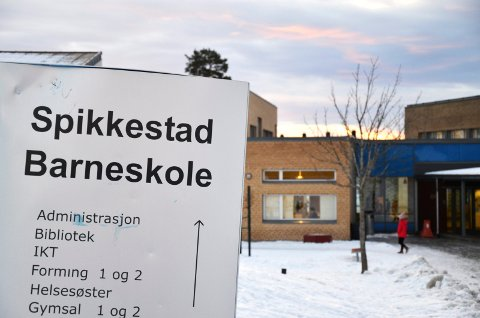 SMITTE: Det er påvist smitte ved et klassetrinn på Spikkestad barneskole.