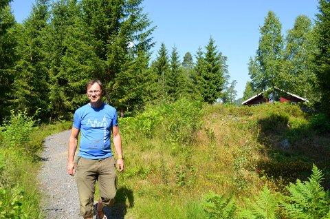 Legger til rette: Leder for Den Norske Turistforening i Sandefjord, Ragnar Standal, ønsker at barnefamilier bruker området.